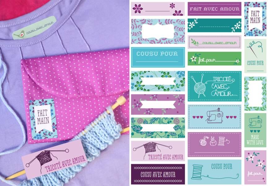 Des étiquettes thermocollantes pour vos vêtements