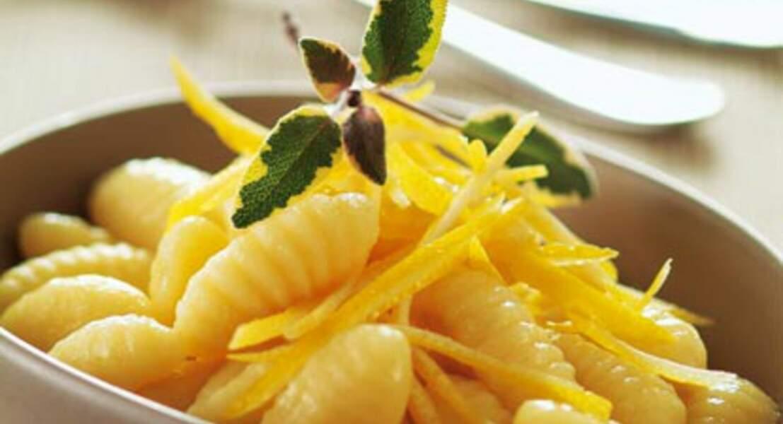 Gnocchis au citron et à la sauge