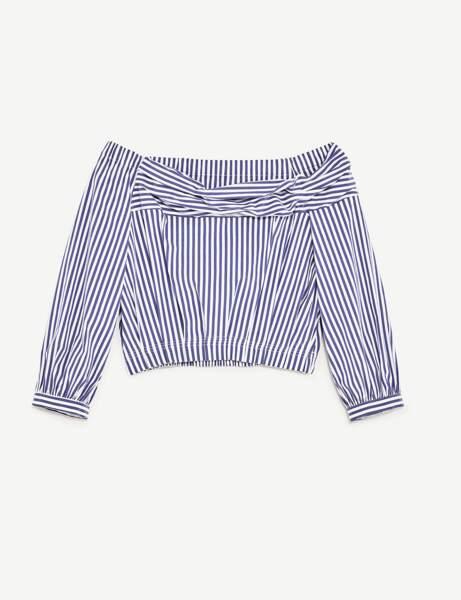 La traditionnelle chemise rayée revisitée