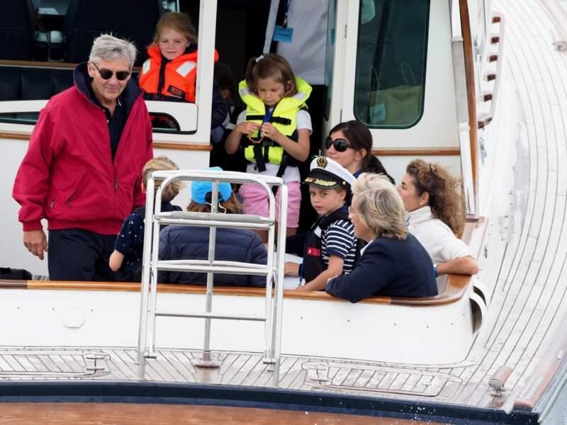 Le prince George à la régate King's Cup à Cowes, le 8 août 2019