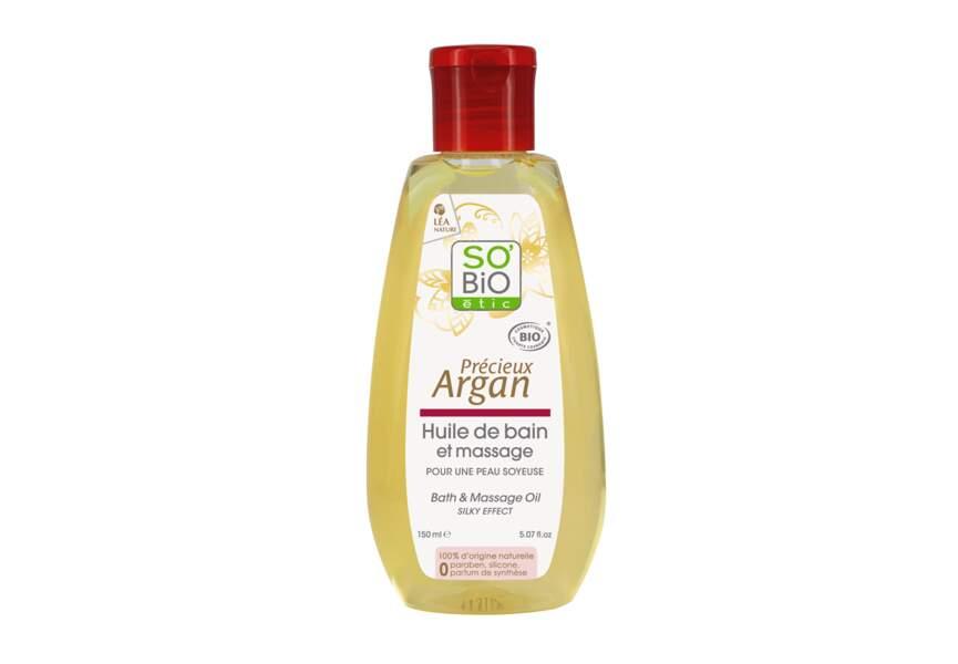 L'Huile de bain et massage Précieux Argan So bio Etic