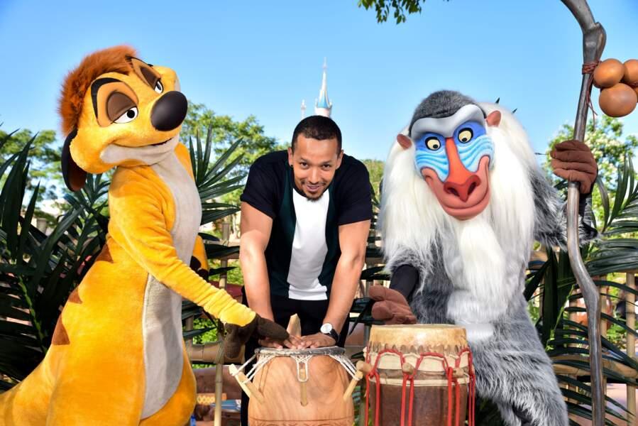 Waly Dia fait honneur à la sortie du nouveau film Le Roi Lion à Disneyland Paris