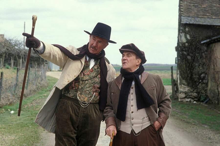 Avec Jean Carmet sur le tournage de Bouvard et Pécuchet