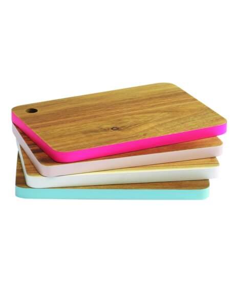 Des planches colorées