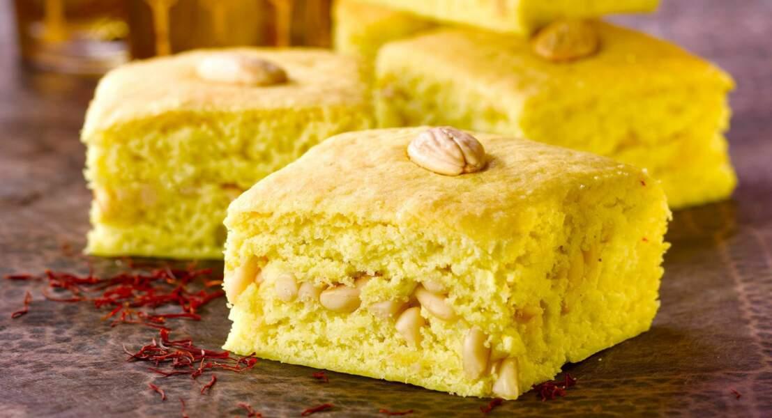Gâteau oriental au safran