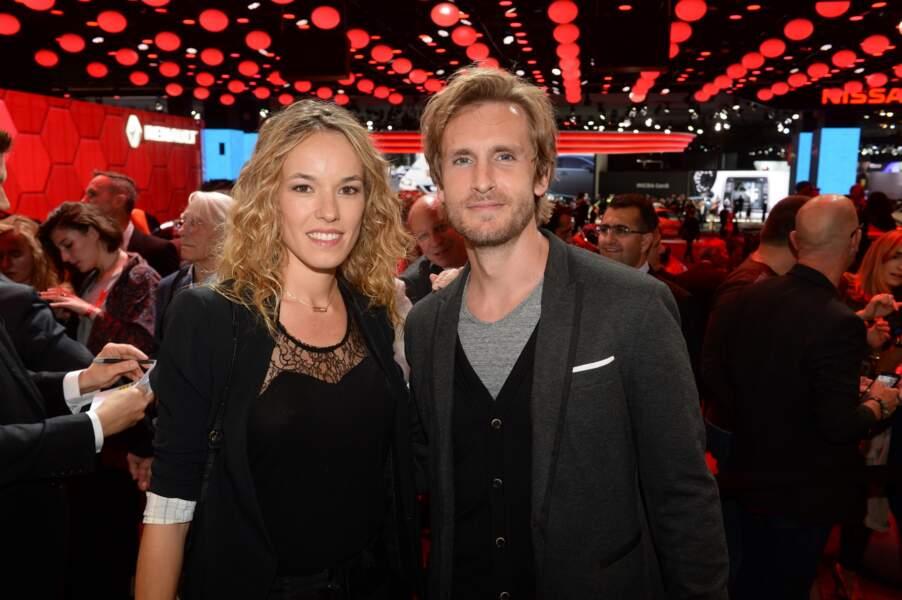 Philippe Lacheau et sa compagne Elodie Fontan au Mondial de l'Automobile le 29 septembre 2016.