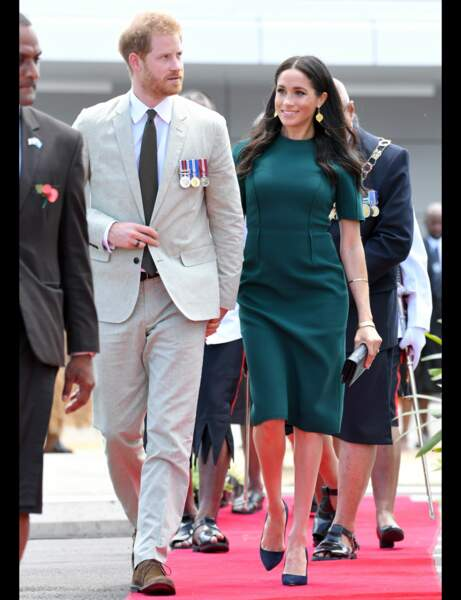 Look grossesse Meghan Markle : so green