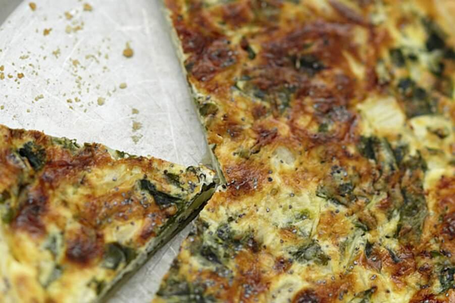 Tarte aux blettes et fromage de chèvre
