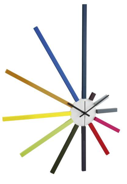Horloges : le modèle multicolore Habitat