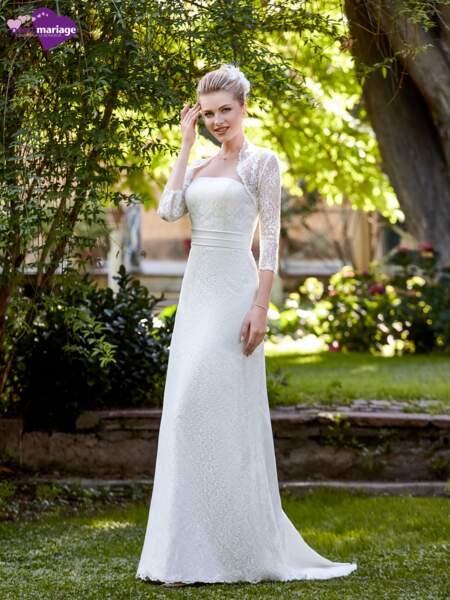 Mariage en hiver : Robe de mariée Emma par Point Mariage