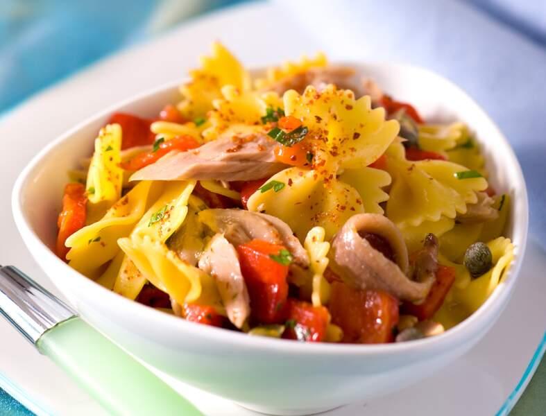 Salade de pâtes au poivron et au thon