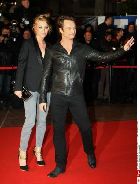 Laura Smet et son frère David Hallyday en 2010