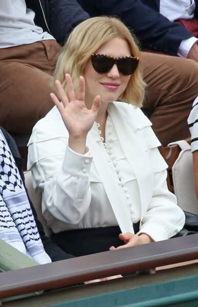 Lea Seydoux et son carré court blond