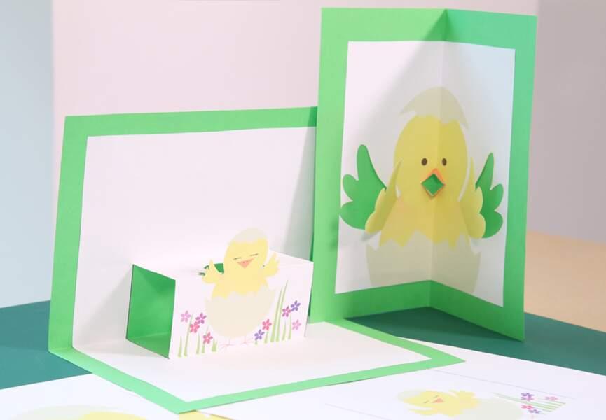 Carte pop-up de Pâques à imprimer