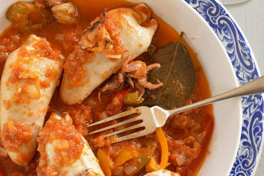 Calamars farcis à la portugaise