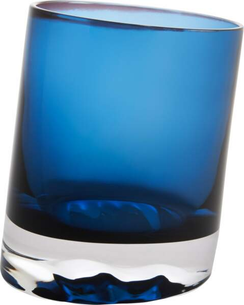Gobelet en verre bleu