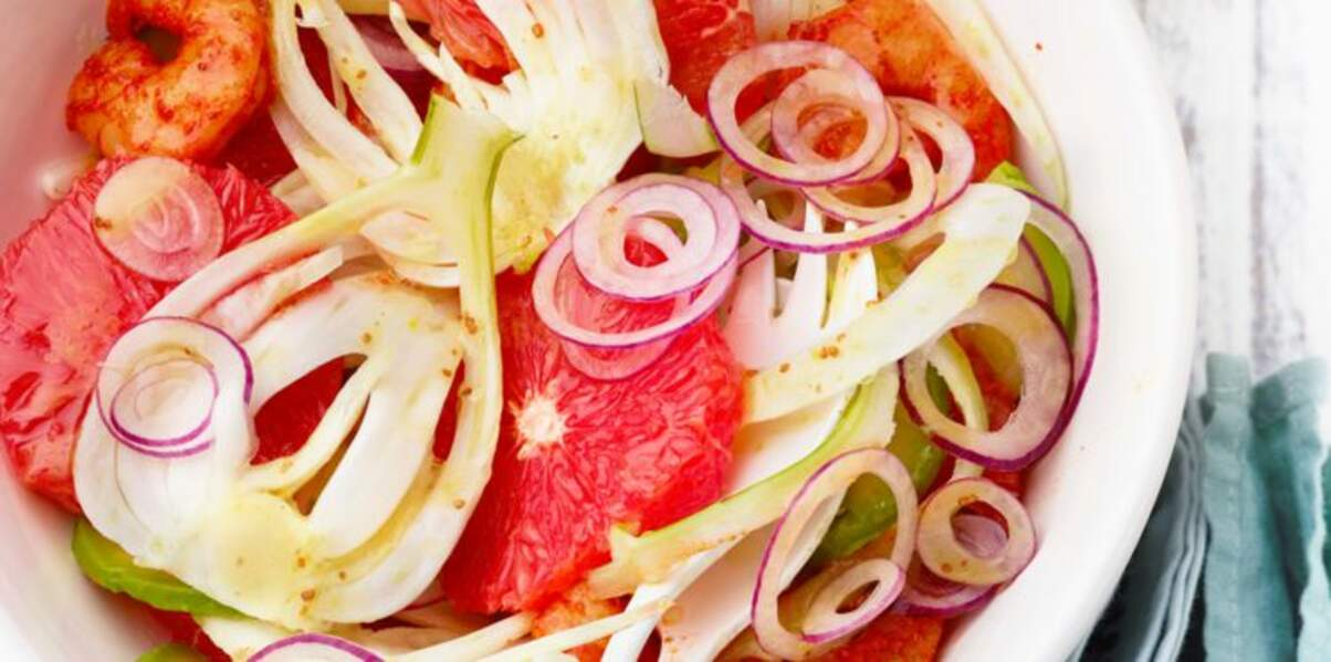 Salade de pomelos aux crevettes