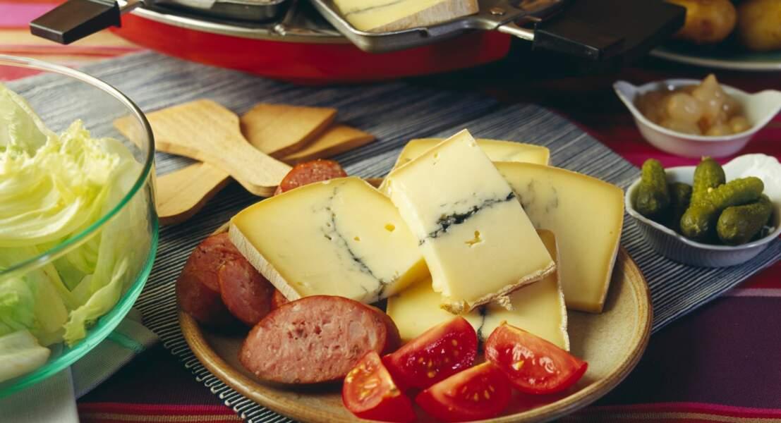 Raclette sans raclette au morbier, au bleu, au munster et au Saint-Nectaire