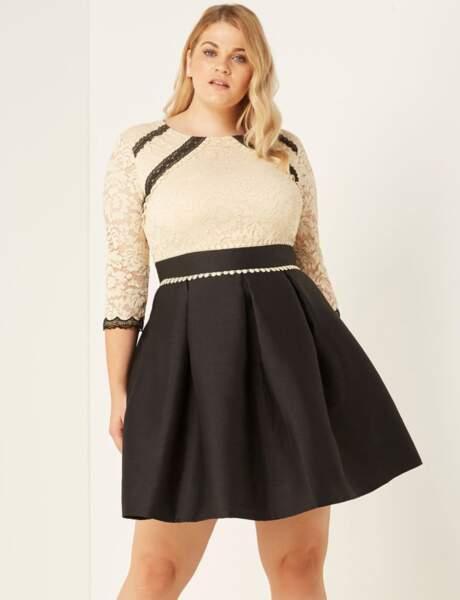 Mode grande taille : la robe en dentelle