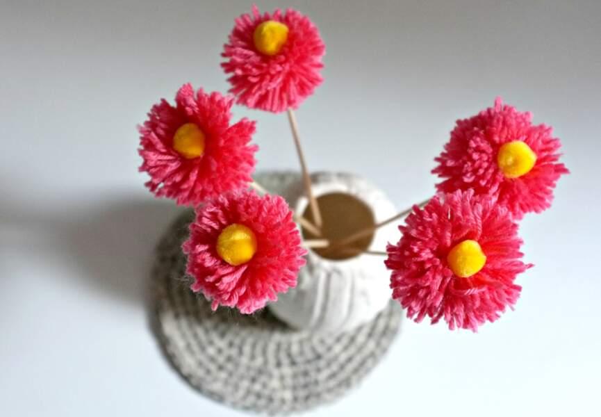Des fleurs en pompons