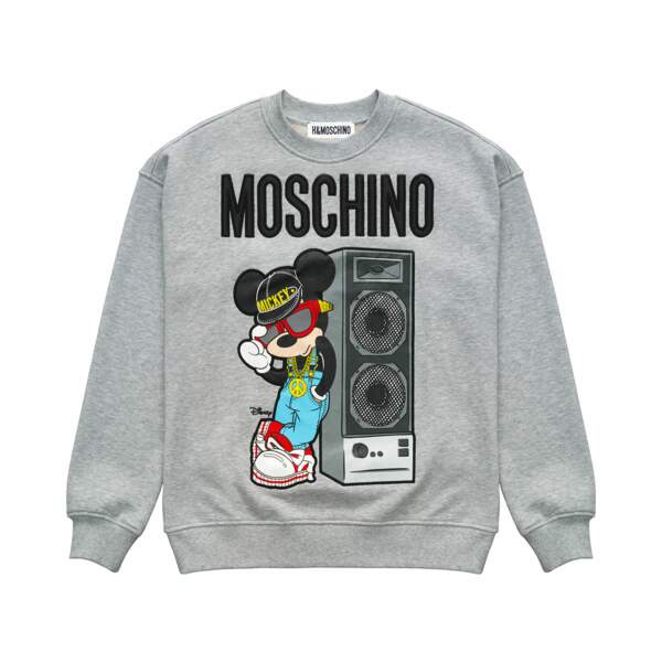 Collection H&M x Moschino : le sweat