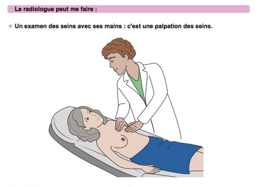Le radiologue peut réaliser une palpation