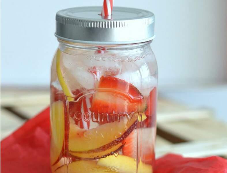 A la fraise, au citron et à la nectarine