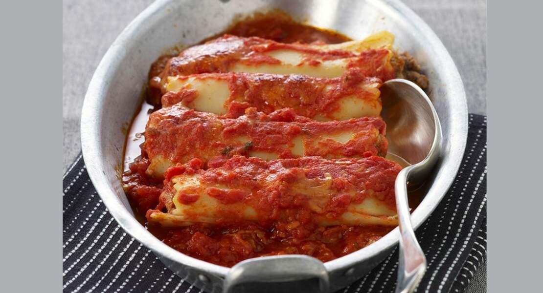 Cannellonis aux légumes sauce bolognaise