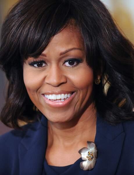 Le carré à frange de Michelle Obama