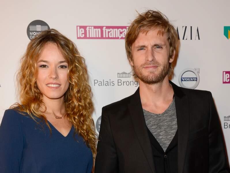 Philippe Lacheau et sa compagne Elodie Fontan à la cérémonie des Trophées du Film Français le 2 février 2016.