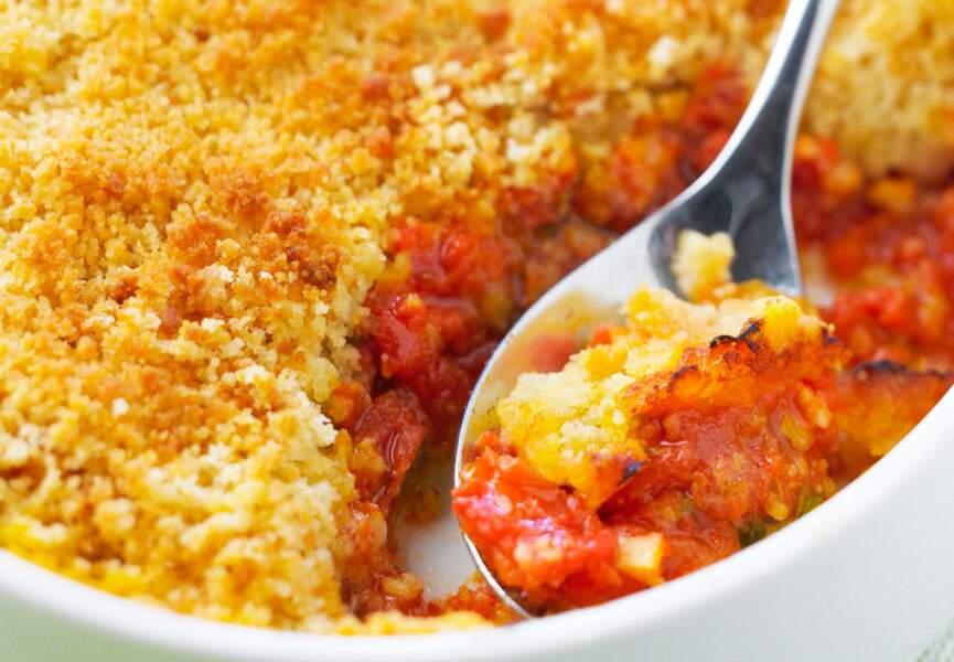 Crumble salé à la tomate