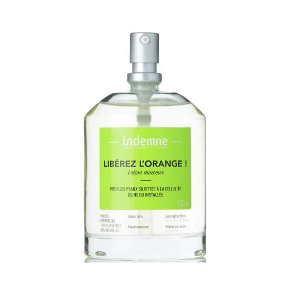 Libérez L'Orange - Lotion Minceur Anti-Cellulite, Indemne, flacon 100 ml, prix indicatif : 27,85 €