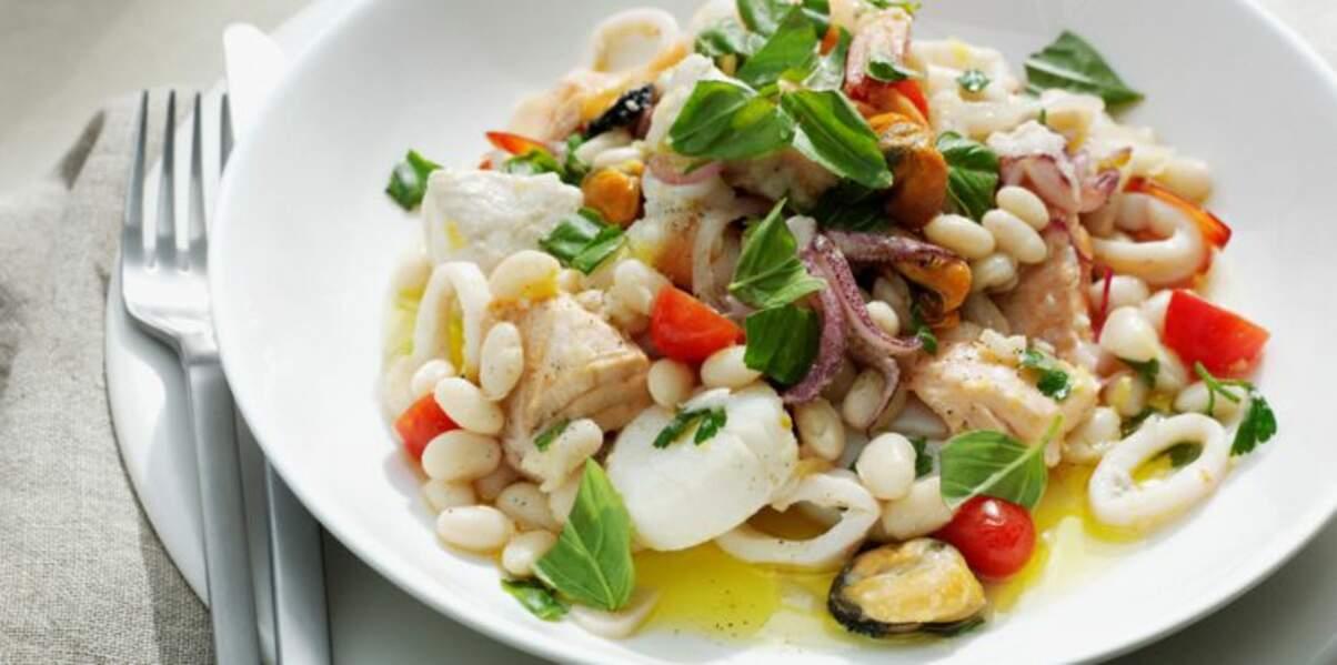 Salade tiède aux moules