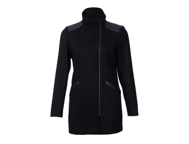 Manteau bi-matière Kiabi