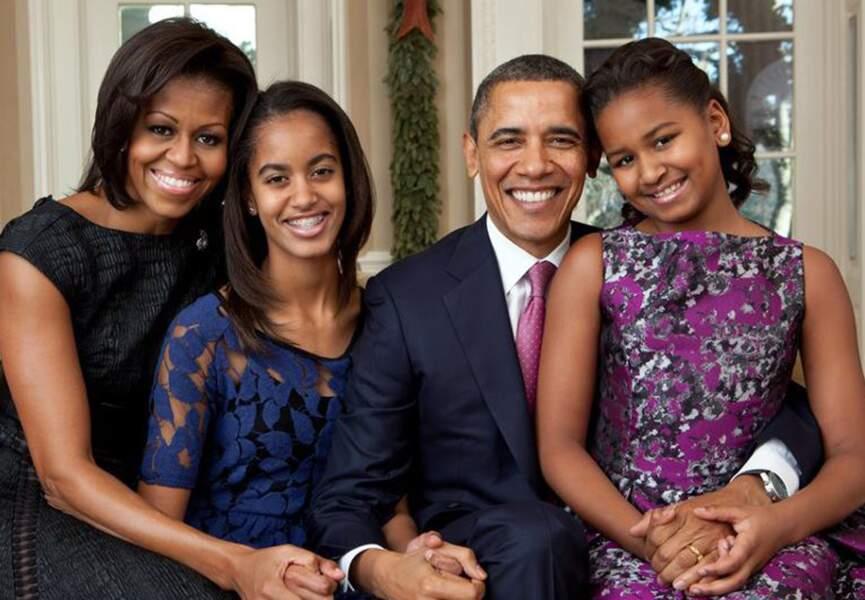Barack Obama, Michelle Obama et leurs filles