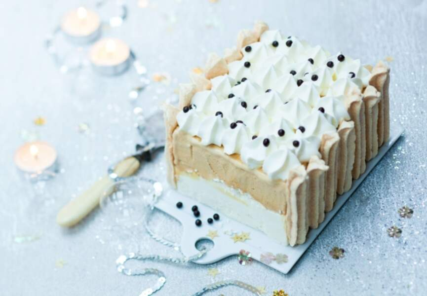 La bûche de Noël vacherin au caramel