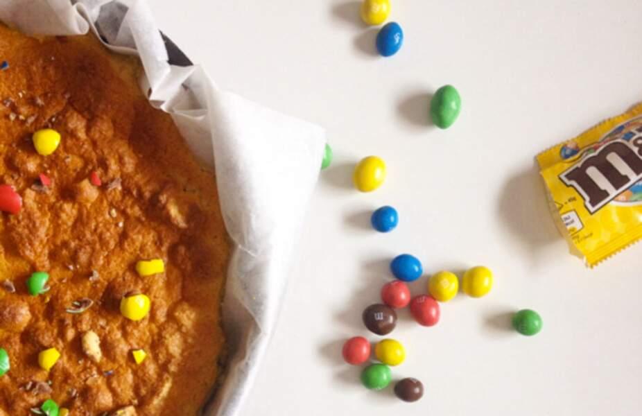 Gâteau magique aux M&M's