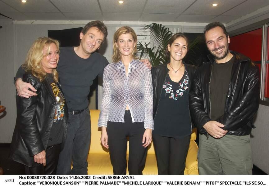 Véronique Sanson, Pierre Palmade, Michèle Laroque, Valérie Benaïm et Pitof au Zénith le 14 juin 2002.