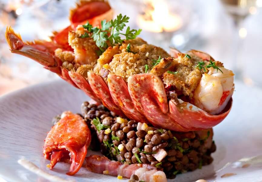 Cassoulet de homard aux lentilles vertes du Puy