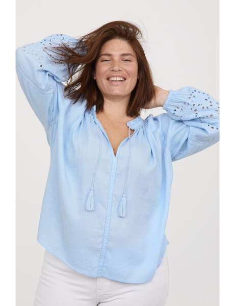 Mode grande taille : la blouse brodée