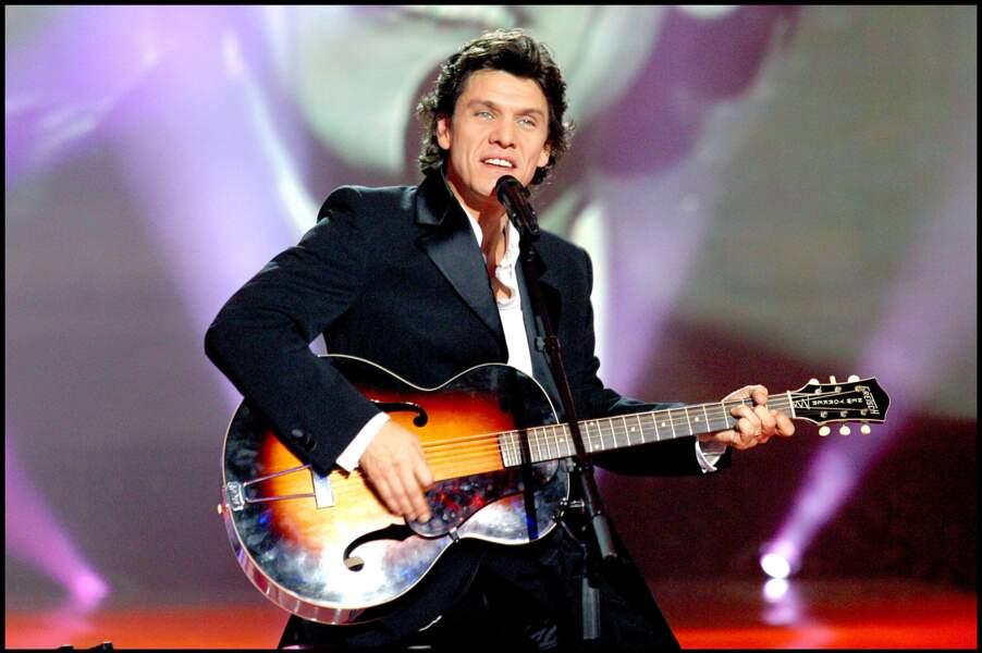 Marc Lavoine en concert le 2 décembre 2002.