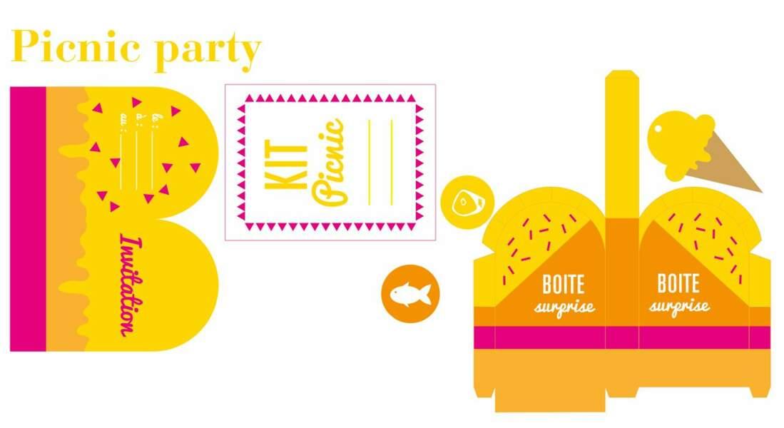 Kit pique-nique : invitations et étiquettes gratuites