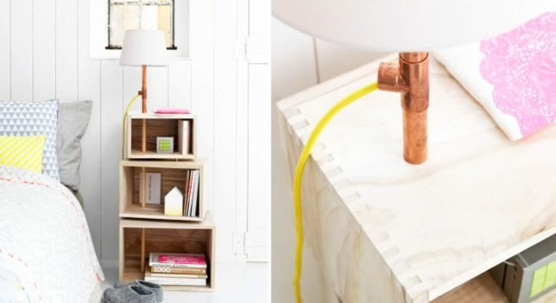 Fabriquer une table de chevet futée et design