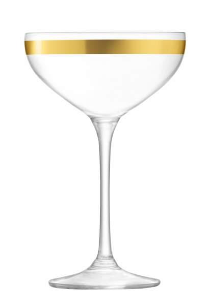 Coupe à champagne liseré doré