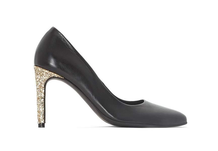 Chaussures de soirée : les escarpins à talons glitter