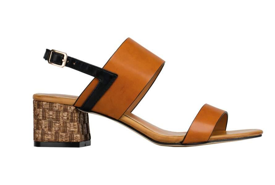 Sandales à talons fantaisie