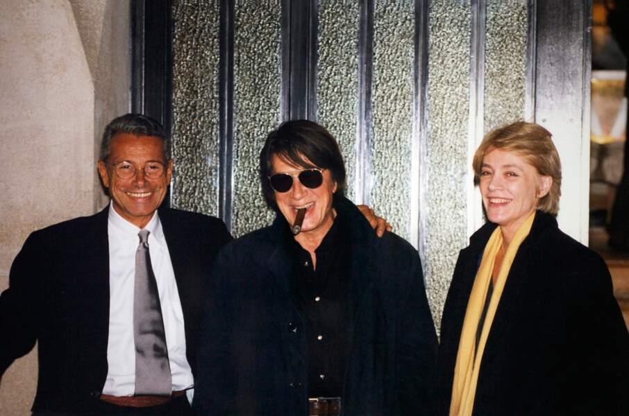 Françoise Hardy, Jacques Dutronc et Jean-Marie Périer en 1999.