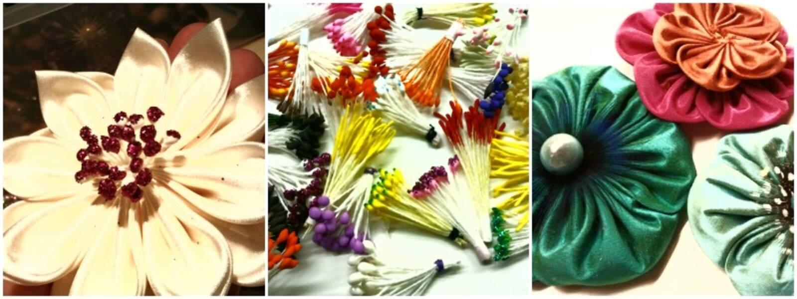 Kiff et wak : des fleurs en tissu sur PrimaCréa.