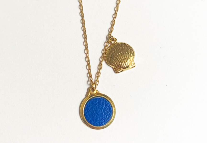 Collier bleu majorelle