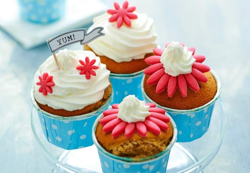 Cupcakes pralinés à l'hibiscus
